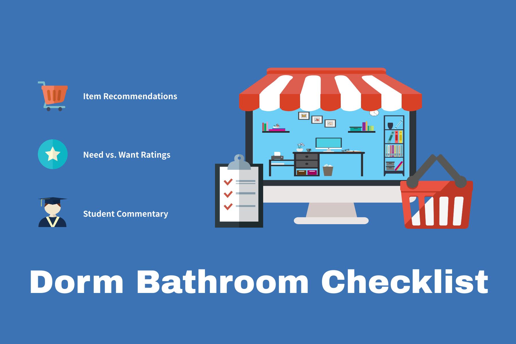 13 Bathroom Essentials For Your College Dorm Room Collegiate Checklist